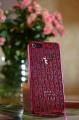 Пластиковый чехол Marc by Marc Jacobs Letters Ярко розовый с про