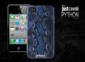 Силиконовый чехол Justcavalli Python Blue Питон Синий для IPhone