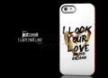 Силиконовый чехол Justcavalli I lock your love Белый для IPhone