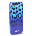 Силиконовый чехол Justcavalli Macro Leopard Леопард Синий для IP