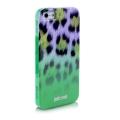 Силиконовый чехол Justcavalli Macro Leopard Леопард Зеленый для