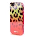 Силиконовый чехол Justcavalli Macro Leopard Леопард Красный для