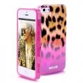 Силиконовый чехол Justcavalli Macro Leopard Леопард Розовый для