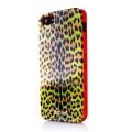 Силиконовый чехол Justcavalli Micro Leopard Леопард Салатовый дл