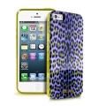 Iphone 5 Силиконовый чехол Justcavalli Micro Leopard Леопард Фио