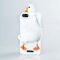 Силиконовый чехол Moschino Duck белый для Iphone 4/4s