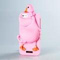 Силиконовый чехол Moschino Duck ярко-розовый для Iphone 4/4s
