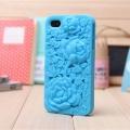 Чехольчик SwitchEasy цветок Blossom, Голубой для IPhone 4/4s