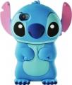 Силиконовый чехол Stitch Синий для Iphone 4/4s