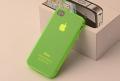 Силиконовый чехол ультратонкий 0.7мм Зеленый для Iphone 4/4s