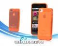 чехол ультратонкий 0.7мм Оранжевый для Iphone 4/4s Силиконовый