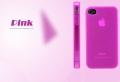 Силиконовый чехол ультратонкий 0.7мм Ярко Розовый для Iphone 4/4