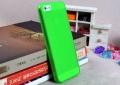 чехол ультратонкий 0.7мм для Iphone 5 Зеленый Силиконовый