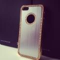 Чехол со стразами, цвет Металик для IPhone 5/5s
