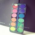 Чехол Набор красок с кисточкой для iPhone 4/4s