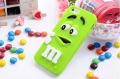 Силиконовый чехол M&M's (эм-энд-эмс) Зеленый на iPhone 4/4S