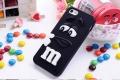 Силиконовый чехол M&M's (эм-энд-эмс) Черный на iPhone 4/4S