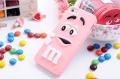 Силиконовый чехол M&M's (эм-энд-эмс) Светло-розовый на iPhone 4/