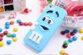 Силиконовый чехол M&M's (эм-энд-эмс) Голубой на iPhone 4/4S