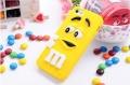 Силиконовый чехол M&M's (эм-энд-эмс) Желтый на iPhone 5/5S