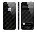 Карбоновая пленка для iphone 5 черная