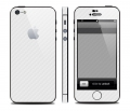 Карбоновая пленка для iphone 5 Белая