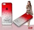 чехол для iphone 5/5s Raindrop Red Капли Дождя Красный