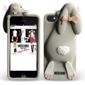 Силиконовый чехол Moschino Violetta Rabbit Бежевый для iPhone 4/