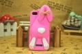 чехол Moschino Violetta Rabbit ярко розовый для iPhone 5/5s
