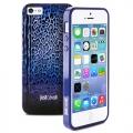 Чехол для IPhone 55s Justcavalli Leopard Черно Синий Леопард