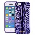 Чехол для IPhone 55s Justcavalli Leo Леопард Фиолетовый