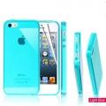 Чехол для Iphone 4 4s 0.7мм силиконовый тонкий бирюза