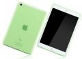 Чехол для ipad 5 Air прозрачный зеленый силикон