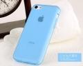 Чехол для iphone 5c  синий силиконовый ультратокний
