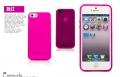 Чехол для Iphone 5/5s ярко розовый 0.7мм ультратонкий силикон