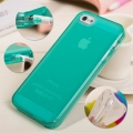 Чехол для Iphone 5/5s Бирюза 0.7мм ультратонкий силикон