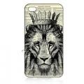 Чехол пластиковый Лев с короной для IPhone 4/4s