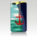 Чехол пластиковый Красный Якорь для IPhone 5/5s