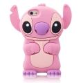 Силиконовый чехол Stitch розовый для Iphone 4/4s