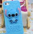Силиконовый чехол Stitch 3D Синий для Iphone 5/5s