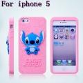 Силиконовый чехол для Iphone 5/5s Stitch 3D Светло розовый