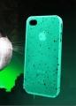 чехол Светяший Зеленый матовый для IPhone 5/5s