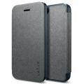 книжка  для IPhone 5/5sкожаная Spigen Ultra Flip серый