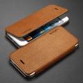 книжка для IPhone 5/5s кожаная Spigen Ultra Flip коричневый