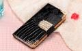 Чехол книжка кожа с стразами для IPhone 5/5s