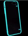 чехол светящийся Luminous Черный для IPhone 5/5s