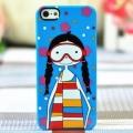 чехол для IPhone 5/5s Ugly Girl в маске