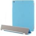 Чехол для Ipad 5 голубой пластиковый с крышкой