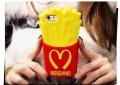 Силиконовый чехол Картошка фри Moschino для iPhone 5/5s/5c