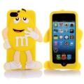 Силиконовый чехол 3D M&M's (эм-энд-эмс) Желтый на iPhone 4/4S